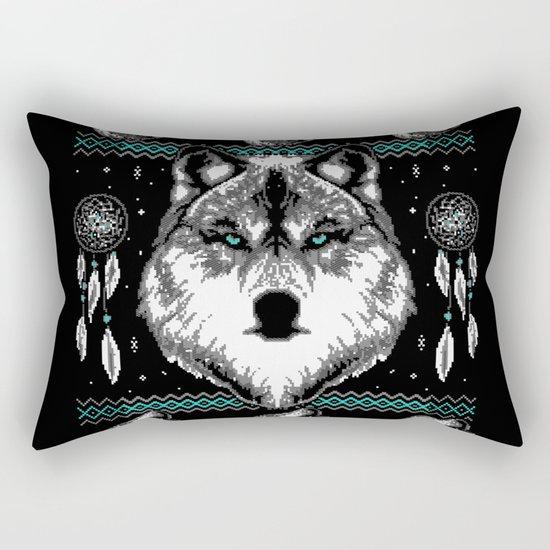 Merry Wolfmas Rectangular Pillow