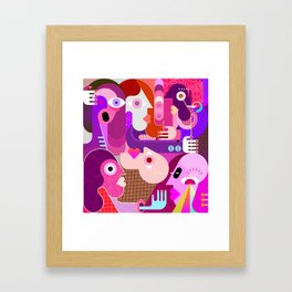 Group of Strange People Framed Art Print