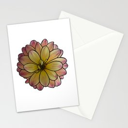 Yellow & Pink Dahlia Stationery Cards