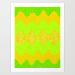 Under the Influence (Marimekko Curves) Melons Art Print