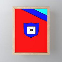 A Family Crest with a Capital Letter M, Mu Framed Mini Art Print