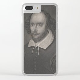 Vintage Portrait of William Shakespeare (1800s) Clear iPhone Case