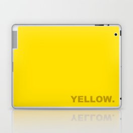 Yellow color less is more, happy summer design Laptop & iPad Skin