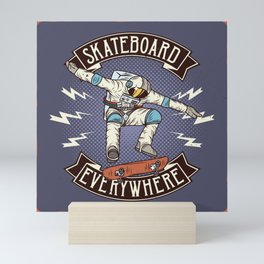 SKATEBOARD everywhere Mini Art Print