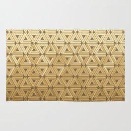 Golden Satin Geometric Rug