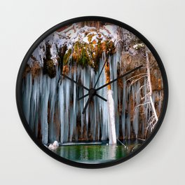 A spring that knows no summer  - Hanging Lake print  by Lena Owens Wall Clock
