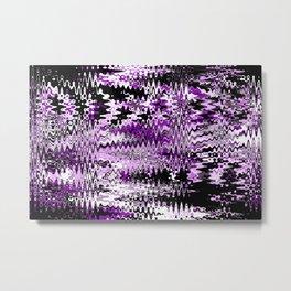 Wave abstact design purple black Metal Print