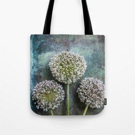 Three Allium Flowers Tote Bag