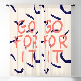 GO FOR IT #society6 #motivational Blackout Curtain