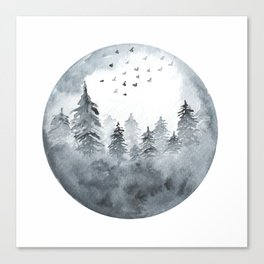 Misty Winter Forest Canvas Print