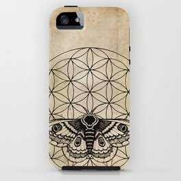 Flower of Life Moth iPhone Case