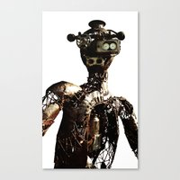 robot Canvas Prints featuring robot by Кaterina Кalinich