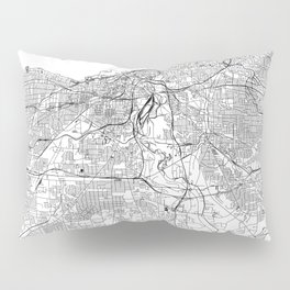 Cleveland White Map Pillow Sham
