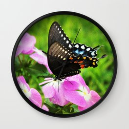 Swallow Tail Butterfly Wall Clock