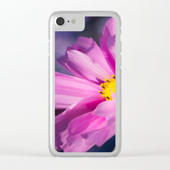 cosmea flower Clear iPhone Case