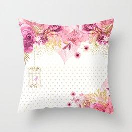 Modern Glam Chic Flowers #2 Throw Pillow