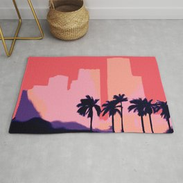 Sunset Time in Miami Rug
