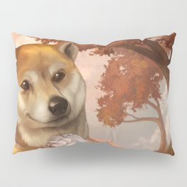 Royal Shiba Dog Portrait Pillow Sham