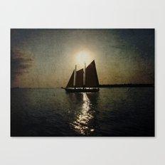 Sailing at twilight Canvas Print