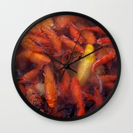 SEA OF GOLD Wall Clock
