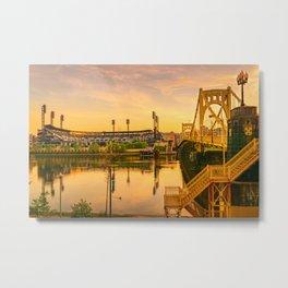 Pittsburgh Ballpark Riverview Sunrise Print Metal Print