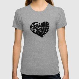 GIVE KINDNESS & LOVE - black T-shirt