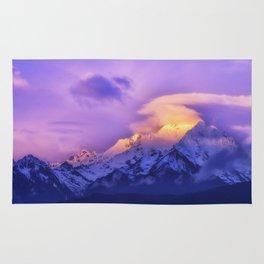 Meili Snow Mountain Shangri-la China Sunrise Rug