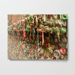 Gum on the Wall Metal Print