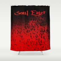 soul eater Shower Curtains featuring Soul Eater by Deb Adkins