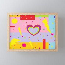 Cotton Candy Lightning Framed Mini Art Print