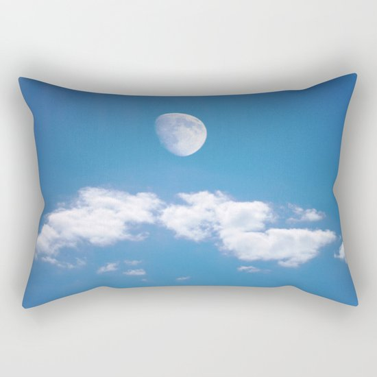 Daytime - Gibbous Moon  Rectangular Pillow