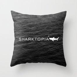 Sharktopia - 2018 Logo Throw Pillow