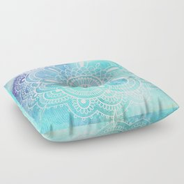 Galaxy Mandala - Watercolor Floor Pillow