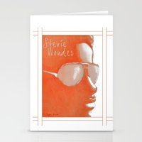 stevie nicks Stationery Cards featuring Stevie Wonder by Nina Bryant Studio