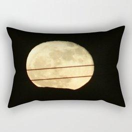 Super Moon Rises behind Mountain Rectangular Pillow