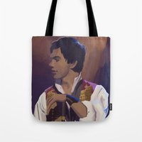 enjolras Tote Bags featuring Enjolras by Miki Price