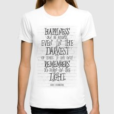 Albus Dumbledore Quote Inspirational Womens Fitted Tee White SMALL
