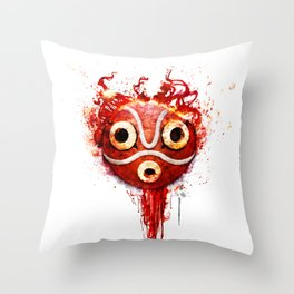 princess mononoke mask  Throw Pillow