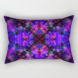 Dark blue kaleidoscope pattern Rectangular Pillow