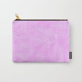 Palm Leaves - Orchid Pink Carry-All Pouch