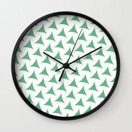 Green Tristar Wall Clock