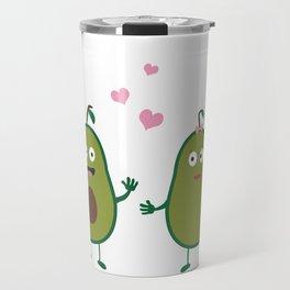 Avocados in love Travel Mug