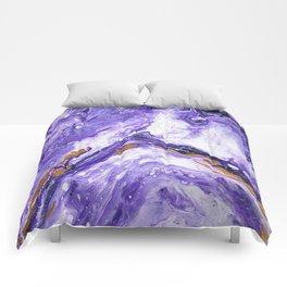 Chevron Amethyst 1 Comforters
