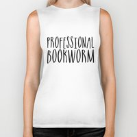 bookworm Biker Tanks featuring Professional bookworm by bookwormboutique