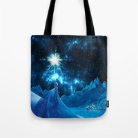 frozen elsa Tote Bags featuring Frozen - Elsa by Thorin