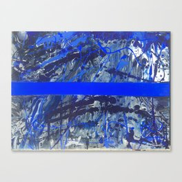 Blue Line of Sorrow Canvas Print