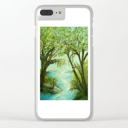 View from the River Bank Clear iPhone Case