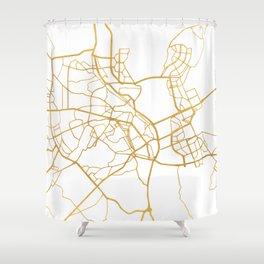 KIEV UKRAINE CITY STREET MAP ART Shower Curtain