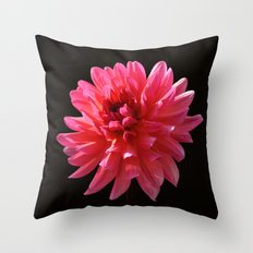 Dahlia - Karma Fuchsiana Throw Pillow