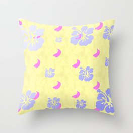 Tropical Pattern Yellow Throw Pillow